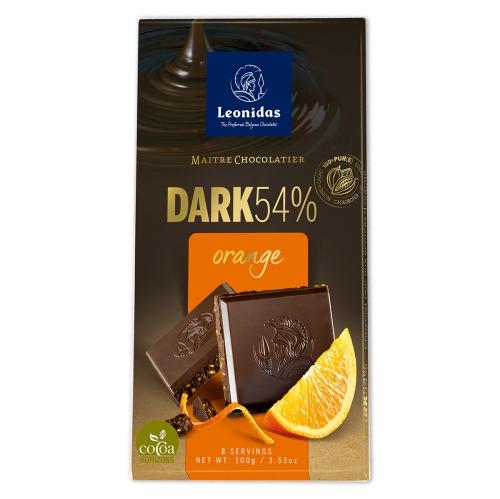 Leonidas Темный шоколад 54% со вкусом апельсина 100 гр.