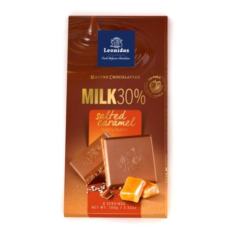 Leonidas Молочный шоколад с соленой карамелью 100 гр.