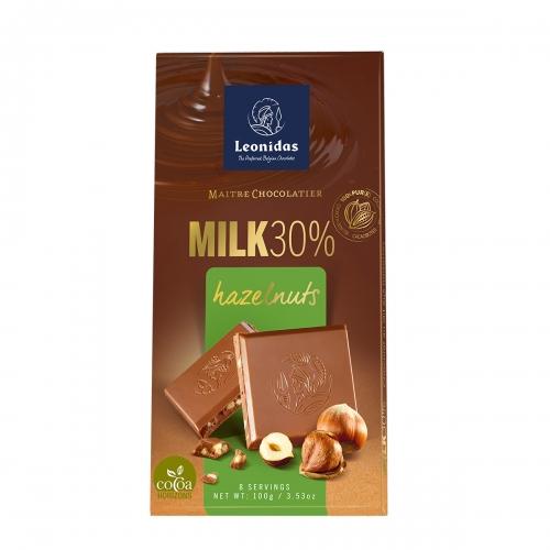 Leonidas Молочный шоколад 30% с фундуком 100 гр.