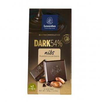 Leonidas Темный шоколад с дроблеными какао-бобами 100 гр.