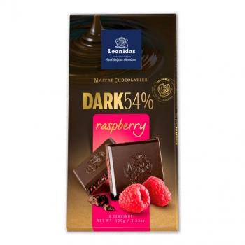 Leonidas Темный шоколад с кусочками малины 100 гр.