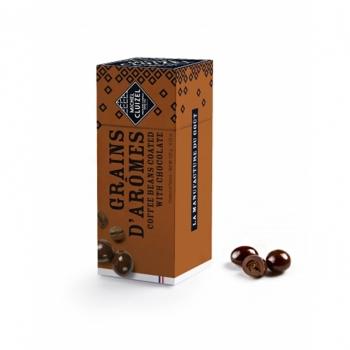Michel Cluizel Конфеты-драже Зёрна арабики в чёрном шоколаде 120 гр.