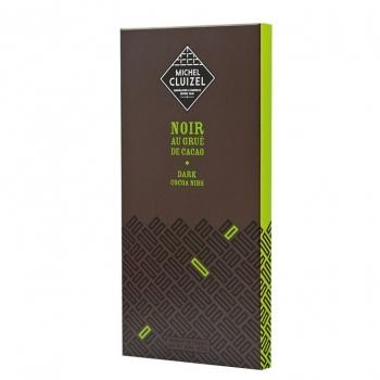 Michel Cluizel Чёрный с какао зёрнами 100 гр.