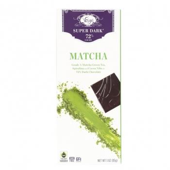 Vosges Haut-Chocolat Горький шоколад 72% Зеленый чай и спирулина
